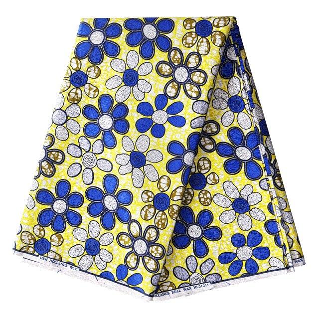 mylb 2018 Ankara African Polyester Wax Prints Fabric Super Hollandais Wax High Quality 6 yard African Fabric for Party Dress