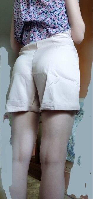 Elegant High Waist Sashes Shorts Women Summer Apricot Harajuku Pockets Summer Shorts Vintage Ladies Mini Shorts Femme photo review