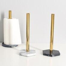 Скандинавский стиль, натуральная мраморная текстура, позолоченная бумажная вешалка для полотенец, кухонный рулон, держатель для бумаги, стойка для хранения бумажных полотенец, аксессуары