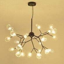 Modern Led Chandelier Nordic Lustre Luminaire Industrial Lighting Fixtures For Living Room Bedroom Hanging Lamps