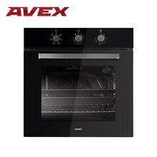 Встраиваемая электрическая духовка с конвекцией AVEX HM 6081 B(фасад стекло, круговой нагревательный элемент, 8+1 функций