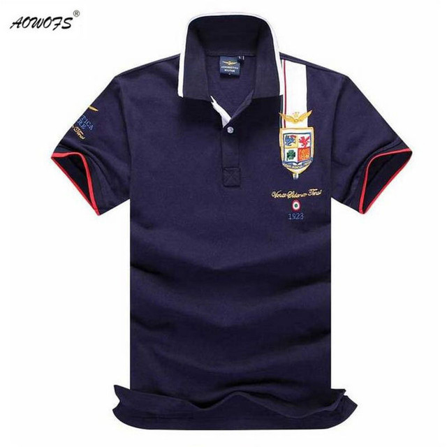 Mens Summer 2017 Breathable Air Force One Polo Embroidery Lapel Polo