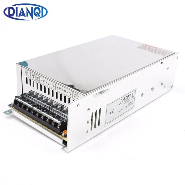 DIANQI 600W 12V 50A 110V input Single Output Switching power supply AC to DC switching power supply 12v 50A 600w S-600-12