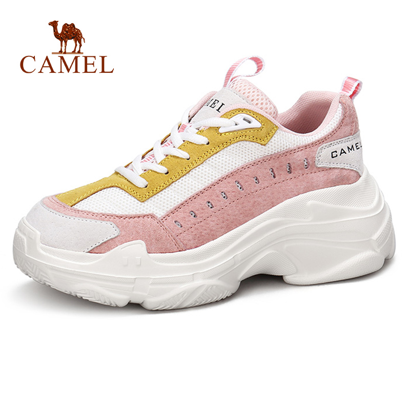 CAMEL Spring New Fashion Ins Thick Heel Women Casual Shoes Women Retro Trend Fashion High Heel