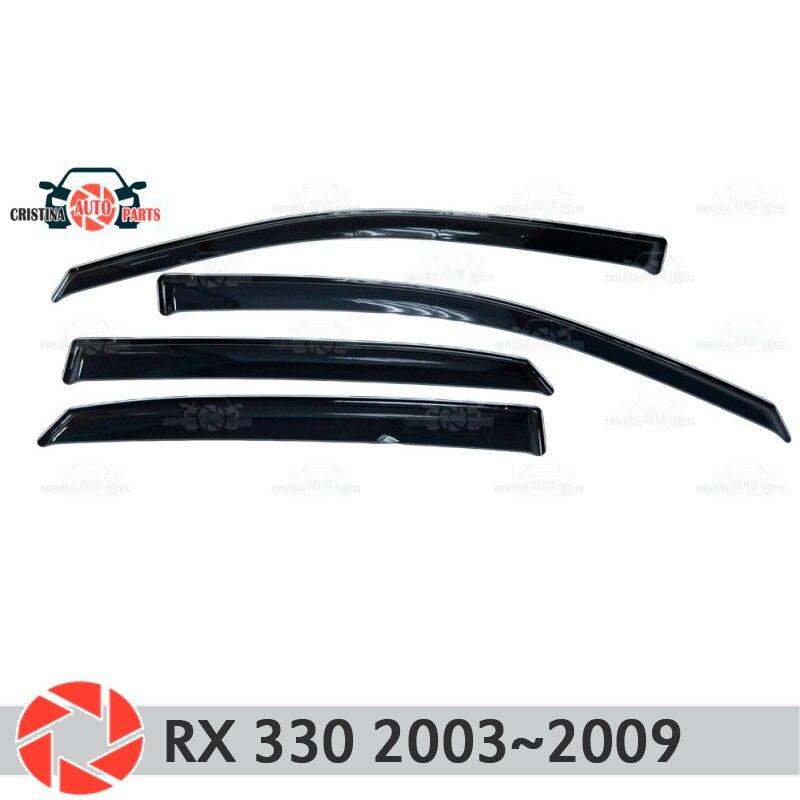 Déflecteur de fenêtre pour Lexus RX 330 2003 ~ 2009 déflecteur de pluie saleté voiture style décoration accessoires moulage