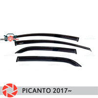 Window deflector for Kia Picanto 2017~ rain deflector dirt protection car styling decoration accessories molding