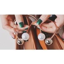 1 PCS Metal Pearls Shoes Accessory, Women Double Beads U Sha
