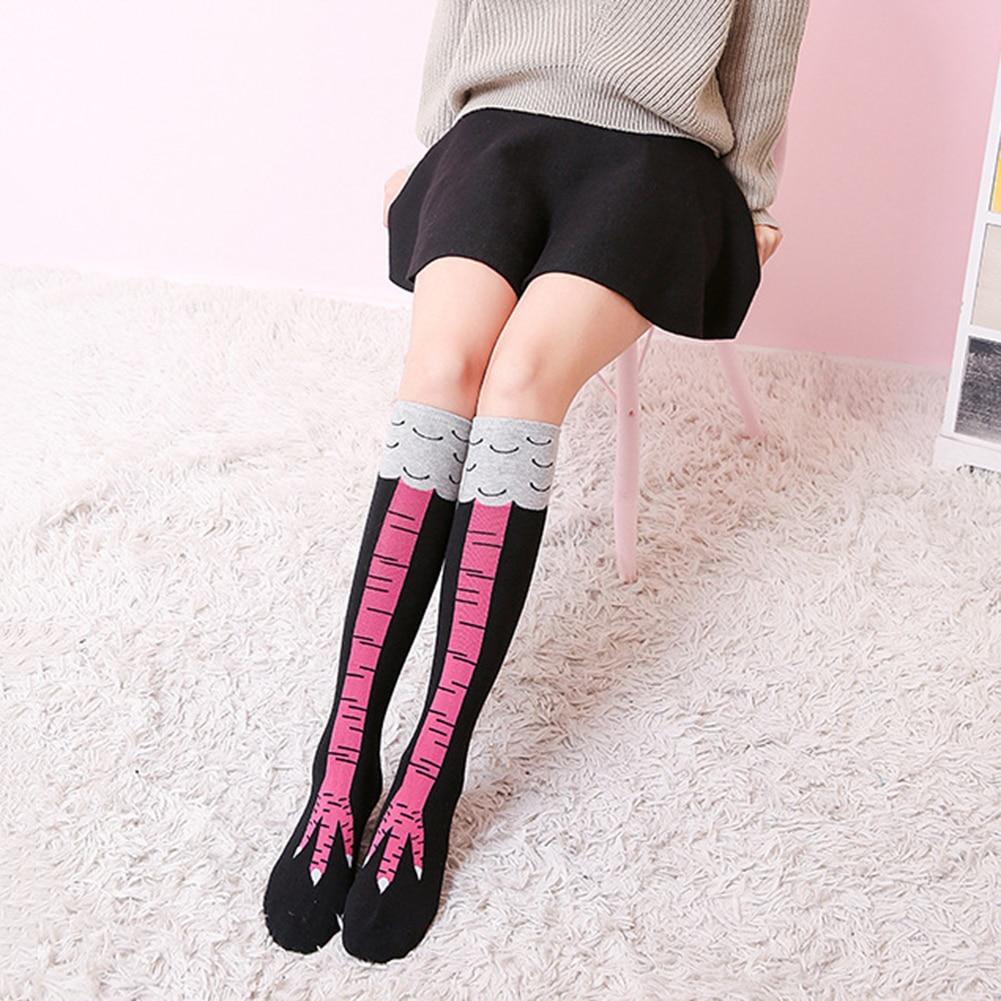 2019 Women's Fashion Creative Chicken Toe Feet Socks Under Knee Stovepipe Socks