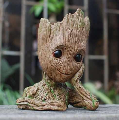 Flowerpot Baby Guardians of The Galaxy Avengers Action Figure Model Toy Flowerpot Baby Tree Man Macetero Pen Planter Flower Pot