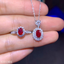 KJJEAXCMY boutique jewelry 925 sterling silver inlaid natural ruby female pendant necklace ring set support detection kjjeaxcmy fine jewelry 925 sterling silver inlaid natural opal female ring pendant set classic support detection