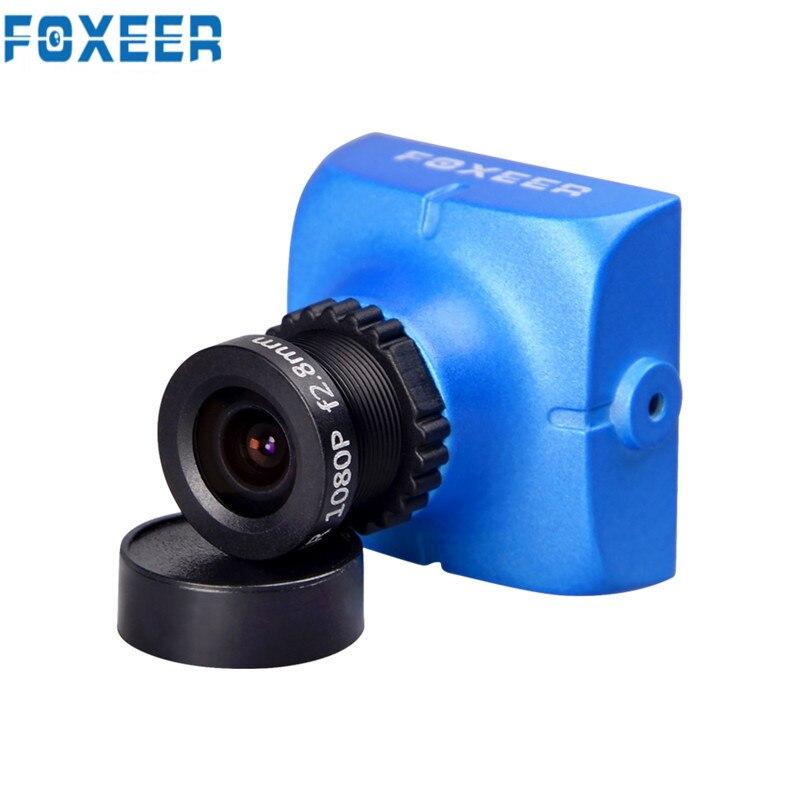 Original foxeer hs1177 V2 600tvl CCD 2.5mm/2.8mm PAL/NTSC ir bloqueado mini FPV Cámara 5 40 V W/soporte