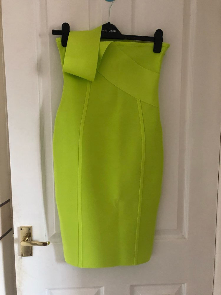Celebrity Bandage Dress New Arrival Summer Women Neon Green Bandage Dress Bodycon One Shoulder Evening Party Dress photo review