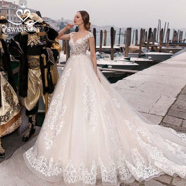 ca49ae933 Vestido de novia lujo con apliques Vintage 2019 vestido personalizado  princesa mariee F226