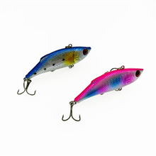 Купить с кэшбэком Big Sale Game VIB Lures 10pcs Hard Bass Bait 7.5cm 10g Vibration Fishing Lure Pesca Fishing Wobbler