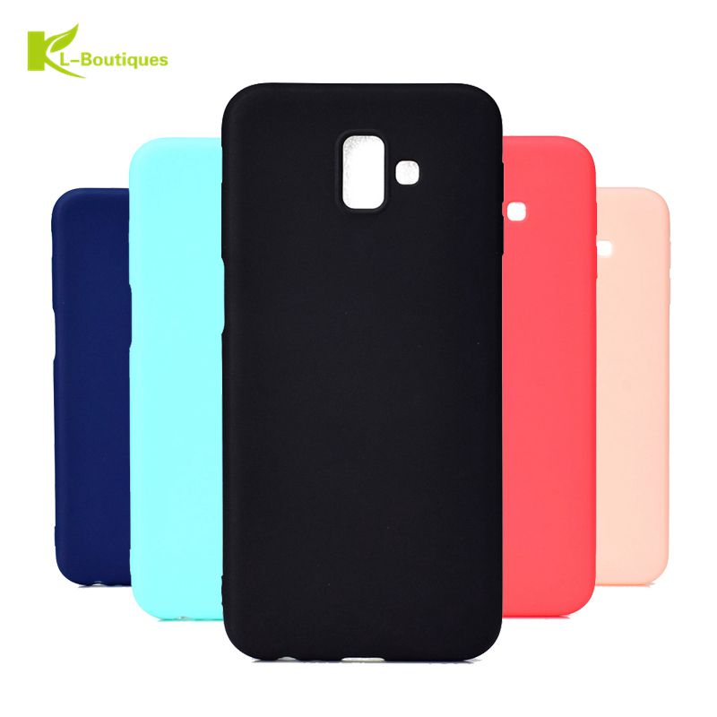 J6 Plus Soft Case on For Samsung Galaxy J6 Plus Candy Colors Slim TPU Case For Fundas Samsung J6 Prime Case Rubber Cover Coque