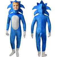 Kids movie Sonic the Hedgehog jumpsuit cosplay animal Hedgehog costume Halloween costume X'mas gift comic con video game suit