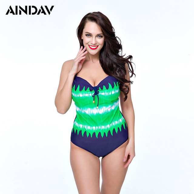 a49420d62b1 Brand New One Piece Swimsuit Plus Size Swimwear Women Vintage Retro Green Bathing  Suits Beach Wear Swimming Suit for Large Bust