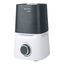 Увлажнитель воздуха Vitek VT-2334 W (Мощность 23 Вт, ультразвуковой, резервуар для воды 2.8 л, регулировка интенсивности, непрерывная работа до 8 часов, таймер)