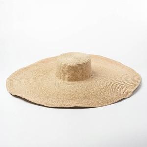 Image 5 - Elegant Natural 25cm Extra Large Raffia Hat Wide Brim Kentucky Derby Hat Women Floppy Summer Beach Hat Big Straw Sun Hat chapeau
