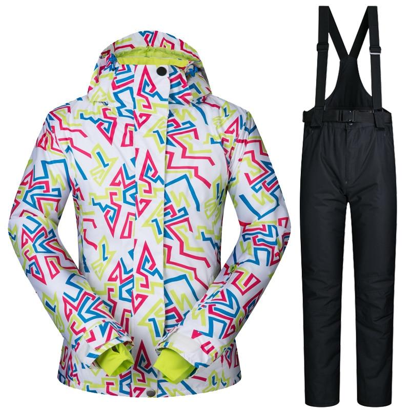 2018 Winter Ski Suit Women Waterproof Snow Jacket Women Snowboard Suits Skiing and snowboarding Snow Clothes Windproof Brands
