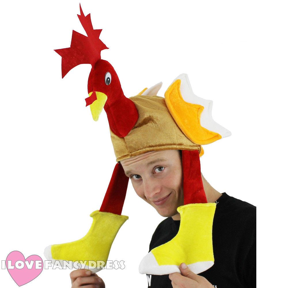 Drôle Latex Adulte Costume de poulet tête Brun Masque Déguisements Stag /& Hen parties