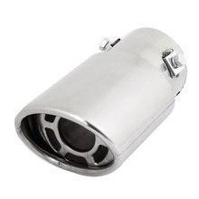 X Autohaux Car Double Layers 6Cm Inlet Inside Diameter Exhaust Muffler Tip