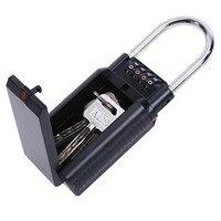 Safurance 4 Digit Combination Password Safety Key Storage Lock Box Estate Security Padlock Home Protection