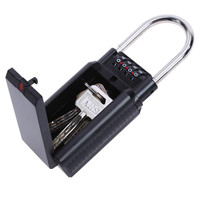 Safurance 4 Digit Combination Password Safety Key Storage Lock Box Estate Security Padlock Home Protection