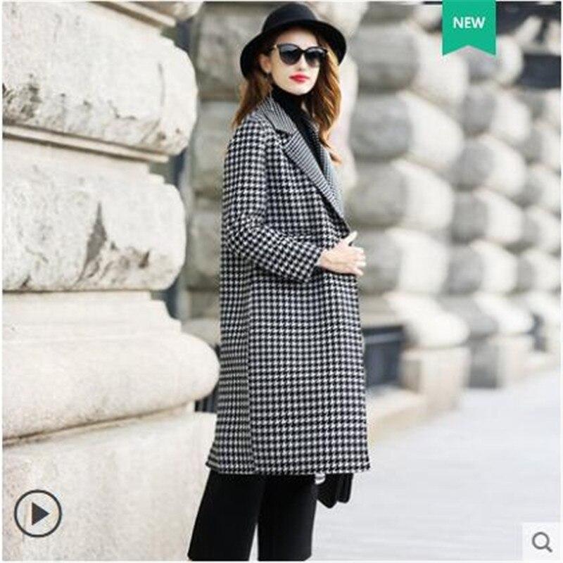 Laine Classique Color Femmes Survêtement Cachemire Impression face Douuble B4040 De Couture Mode Manteau Automne Long Manteaux Haute Photo tqwFYgTn