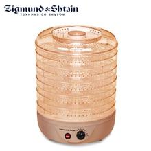 Zigmund& Shtain ZFD-401 Сушилка электрическая для овощей и фруктов с прозрачными секциями, 500 Вт, Регулировка температуры 35-70°С, 5 съемных секций, Вентилятор для равномерной сушки овощей и фруктов