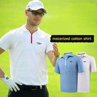 2017 Nieuwe Golf T-shirt mannen Poloshirt Korte Mouw T-shirt Zomer Sport Kleding Golf apparel 86% Polyester