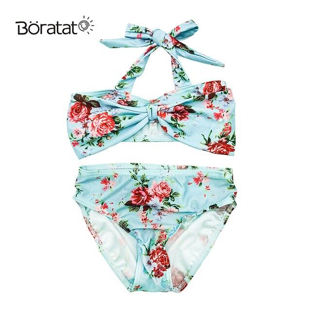 3705d8e0e54 Cute Baby Girls Bikini Set Flower New Newborn Toddler Infant Kids Two  Pieces Swimsuit Bathing Suit Beachwear Falbala Bikini