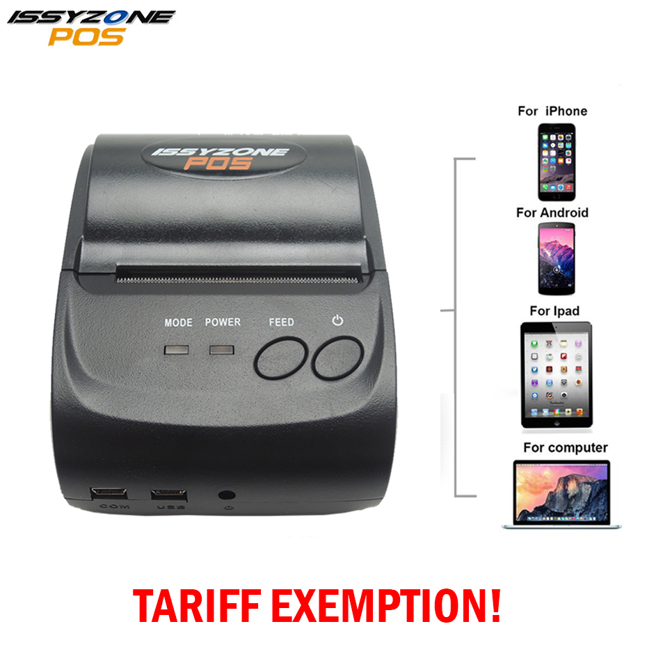 все цены на ISSYZONEPOS 58mm Bluetooth Thermal Receipt Printer Portable Android IOS Mini Printer Android Mobile POS Printer онлайн