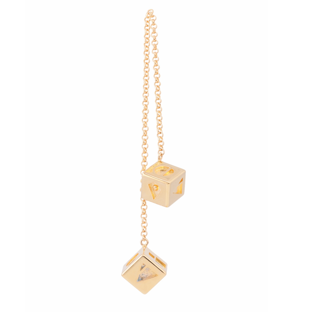 Star Wars Han Solo Golden Dice Pendant Chain Jewelry Copper Alloy Halloween Christmas Gift Original Cosplay Props 2018 Hot Sale
