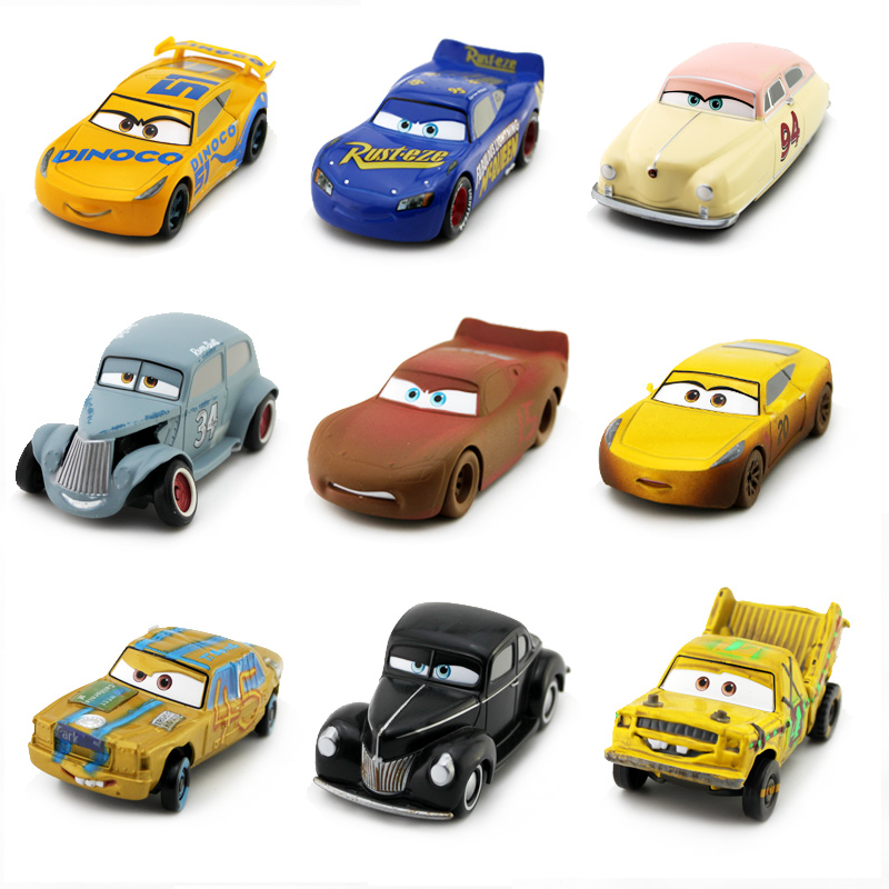 Disney Pixar Cars 3 7 Style Big Size Crazy Crashed Party Alloy Car Lightning Mcqueen Mater <font><b>T</b></font>.Bone Toy Car New Year Gift For Kids image