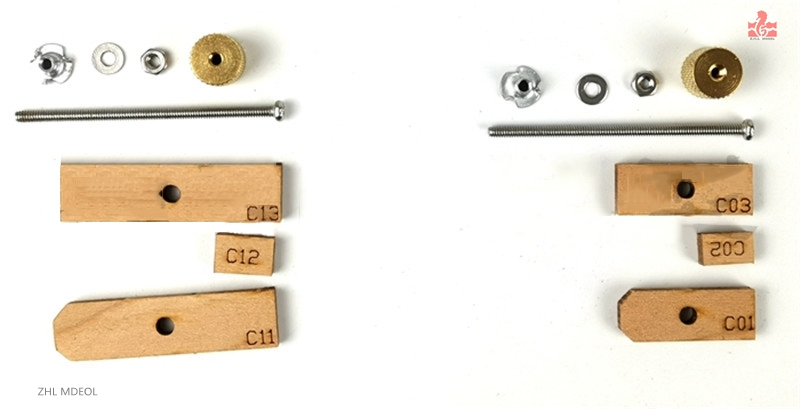 ZHL Full Rib <font><b>Modeling</b></font> Tool <font><b>Hull</b></font> Wood Strip Fastening Clip- 10Pieces image