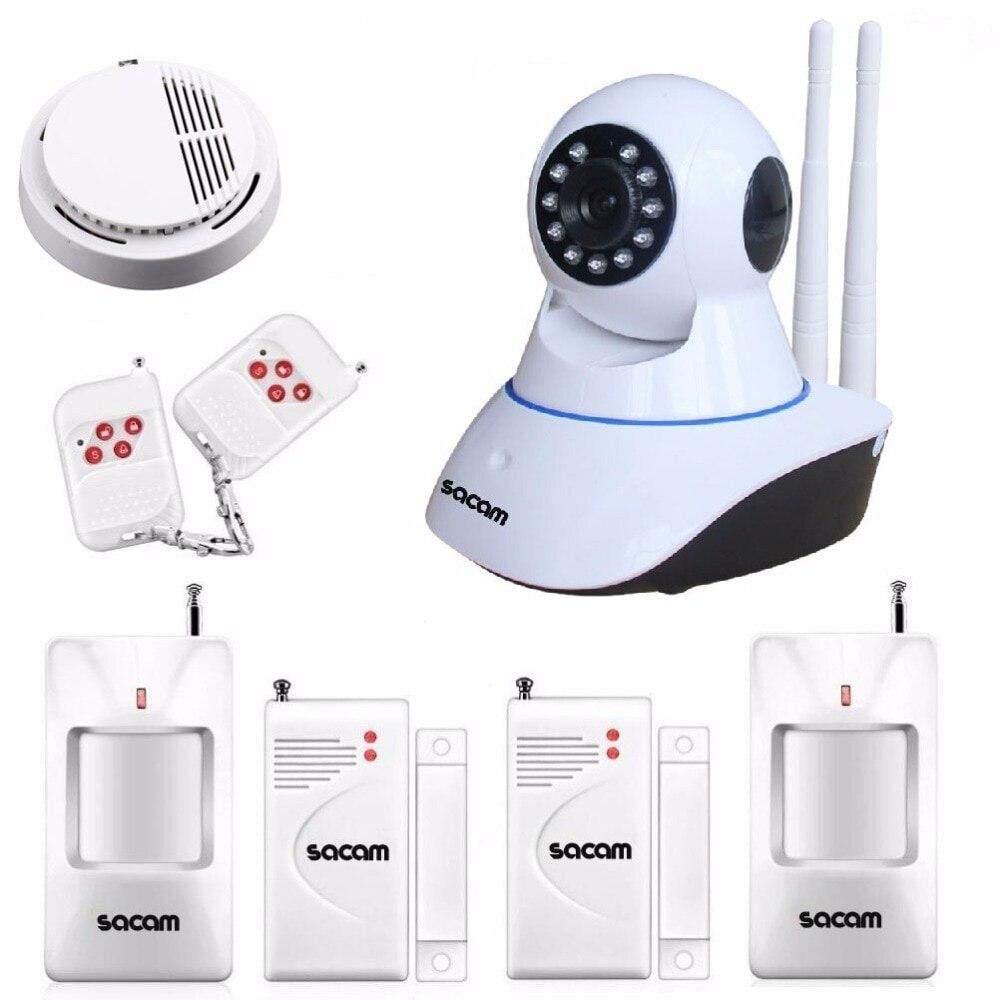 SACAM Wireless IP Camera 960P WiFi Alarm System Home Burglar Door Security PIR Sensors Network Video Surveillance Intruder KitSACAM Wireless IP Camera 960P WiFi Alarm System Home Burglar Door Security PIR Sensors Network Video Surveillance Intruder Kit
