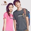 CAMEL мужская и женская быстросохнущая футболка с коротким рукавом  летняя Мягкая дышащая спортивная футболка с круглым вырезом для бега и пе...