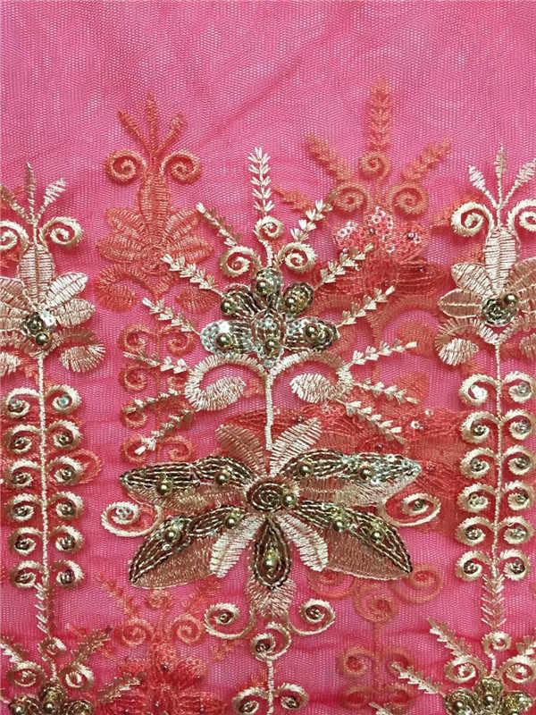 Últimas Azul Royal Francês Laços Nigeriano Laços Tecidos Tecidos de Alta Qualidade Lantejoulas Tule Africano Casamento Africano Tule Francês