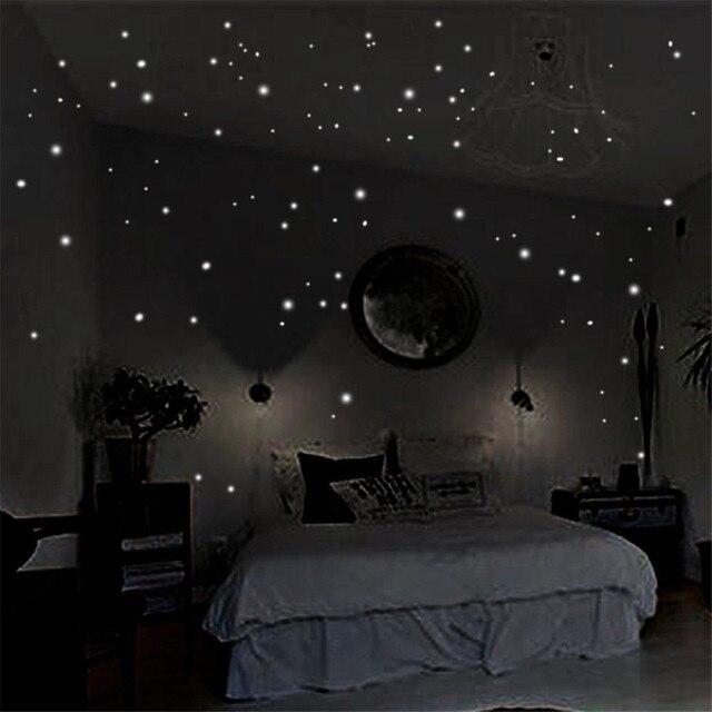 Leuchtende Decke glow in the wandaufkleber 400 stücke runden punkten leuchtende