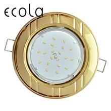 Ecola GX53-H4 Тонкий встраиваемый светильник