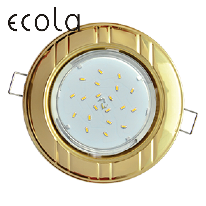 Ecola GX53-H4 Dual Color slim recessed Ceiling Downlight Round Spotlight Hole Spot lamp GX53 Sockets 6 bands 36x106mm
