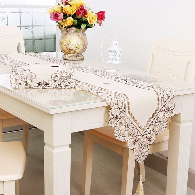 Uxcell Vintage Flower Embroidery Table Runner Wedding Decor Light