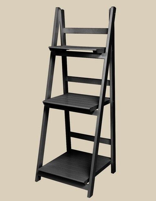3 Tier Ladder Bookshelf Wood Ladders Standing Shelves Bookcase Storage Stand Newspaper And Magazine Racks