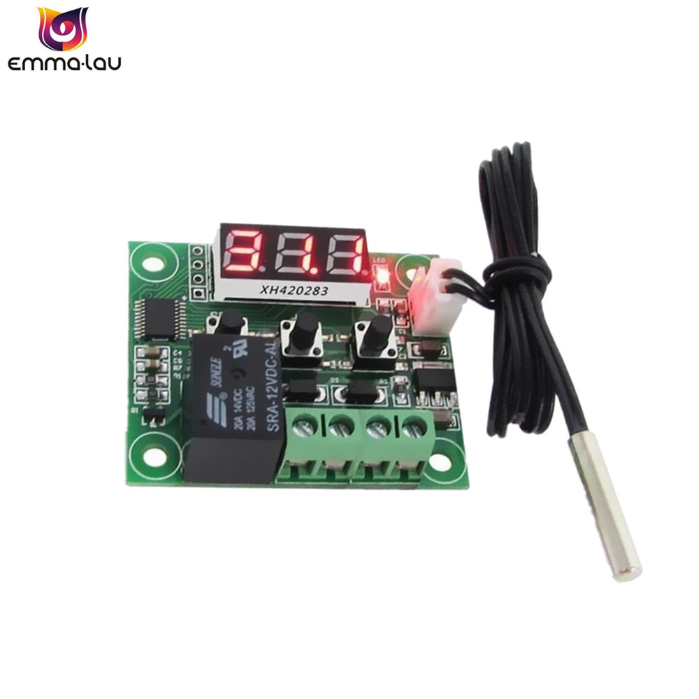 W1209 Red LED Heat Cool Temp Thermostat Temperature Controller -<font><b>50</b></font>-<font><b>110C</b></font> DC12V On/Off Switch Temperature Meter With NTC Sensor image