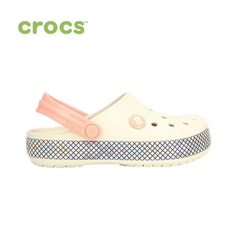 цена CROCS Crocband Gallery Clog K KIDS or boys/for girls, children, kids TmallFS shoes онлайн в 2017 году