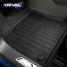 Для Volkswagen Touareg III 2018- Литьевые коврики в салон 5 шт/компл. (резина) [Rival 65808001]