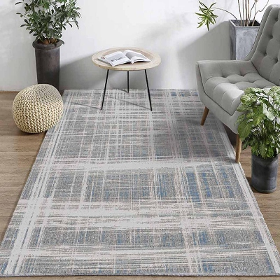 Else Gray Mixed Lines Vintage Geometric 3d Print Non Slip Microfiber Living Room Decorative Modern Washable Area Rug Mat