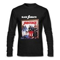 BLACK SABBATH PARANOID 70 HEAVY METAL OZZY OSBOURNE DIO Men S Long Sleeve Black T Shirt