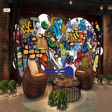 Cool graffiti decorative painting wall professional production mural factory wholesale wallpaper poster photo